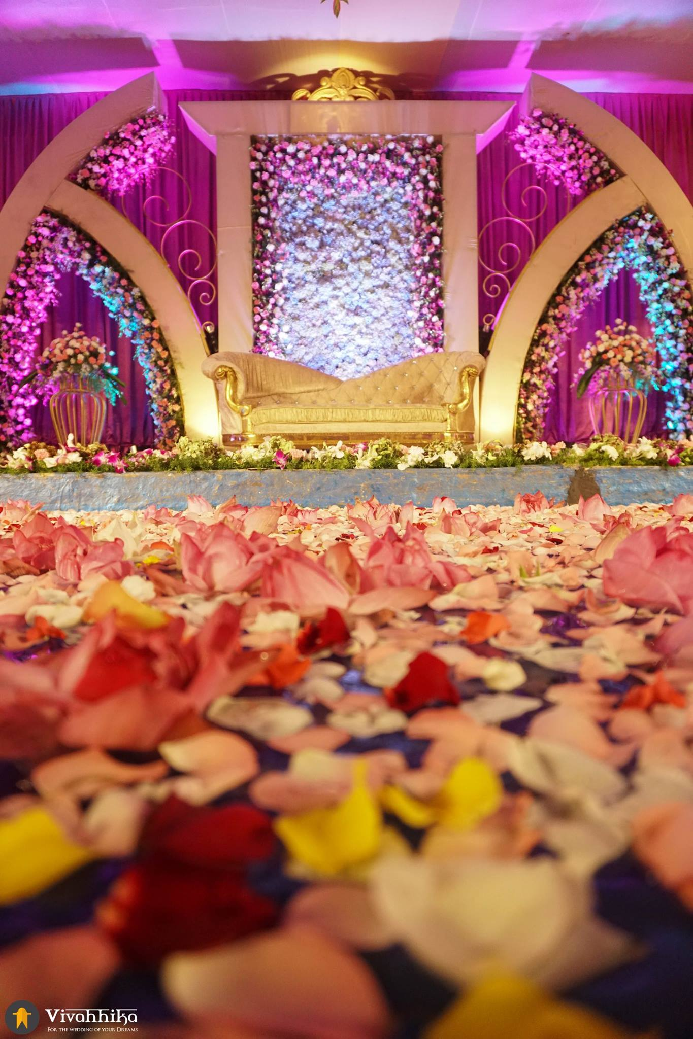 Telugu wedding stage decoration